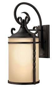 hinkley lighting 1145ol casa 1 light large outdoor wall sconce in olde black with light etched
