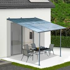 3 x 3m wall mounted canopy outdoor awning aluminuim sun