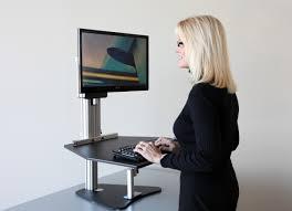 using standing desk topper