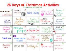 25 Days of Christmas Activities Advent Calendar