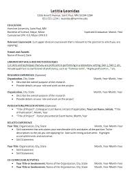 Resumes And Cover Letters Career Development Center Hamline Amazing Science Resume