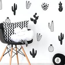 cactus wall decals woodland tribal stickers for kids room baby nursery decor art succulent diy