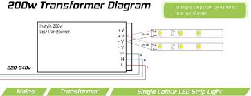 12v 24v 200 watt mean well transformer for led tape 200 watt transformer diagram