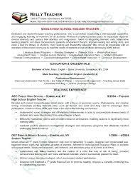School Teacher Resume Samples Secondary Teacher Resume Examples ...