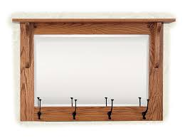 Coat Rack Furniture Mission Wall Mirror With Coat Rack From DutchCrafters Amish Furniture 24