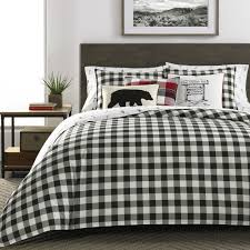 black and white duvet covers.  Black Shop Eddie Bauer Mountain Plaid Black And Offwhite Duvet Cover Set  Free  Shipping On Orders Over 45 Overstockcom 16900590 To And White Covers