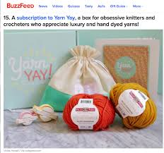 get the yarnyay by vickie howell knitting crochet subscriptionbox from the buzzfeed top