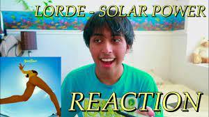 Lorde - Solar Power (Single) REACTION ...