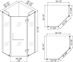 similiar standard size for stand up shower keywords