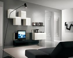 Modular Living Room Designs Enticing Gray Living Room Design Idea With White Modular Wall