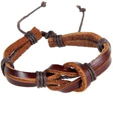 2019 new retro leather strap hand woven creative 8 shaped buckle knot leather bracelet diameter 6 5cm adjusted blace brown bl0009 from weiyi18