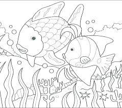 Rainbow Fish Coloring Pages Preschoolers Printable Page For