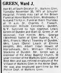 green ward j obit mentions green vallet townley leach howell stocking -  Newspapers.com
