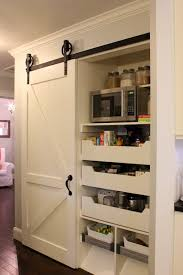 Barn Door Kitchen Pantry With Sliding Traditional A 666bbe88c527 493x740 3  | Logischo.com