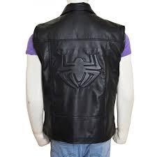 spider man noir leather vest