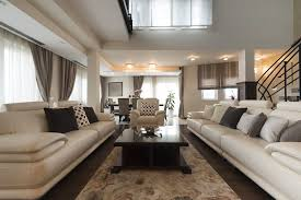 cream leather sofa living room