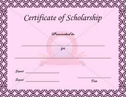 scholarship templates scholarship certificate template scholarship certificate