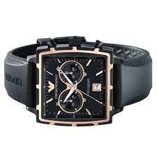 mens emporio armani sportivo chronograph rubber strap watch ar0595 more views