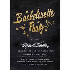 Glimmering Bachelorette Party Invite Standard Bachelorette