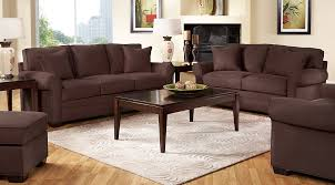 Brown sofa sets Medium Brown Brown Sofa Set With White Lamps On Wooden Coffee And End Tables Ashley Furniture Homestore Beige Brown White Living Room Furniture Decorating Ideas