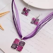 quilters block necklace earrings