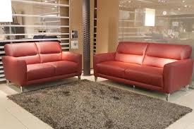 natuzzi u99 contemporary leather sofa with chrome legs
