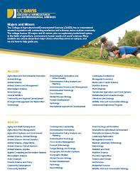 Brochures College Of Agricultural And Environmental Sciences