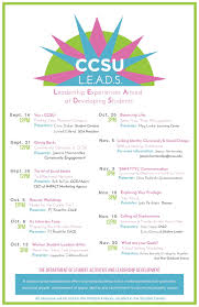 student activities leadership development ccsu leads this poster outlines the schedule of events in the leadership workshop series