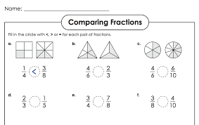Comparing Fractions Super Teacher Worksheets : Kelpies