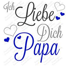 Ich Liebe Dich Papa Tasse Für Familie Papa