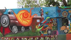 on wall art painters in chennai with wall painting at chennai central station by nift chennai youtube
