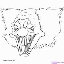 clown coloring page awesome 94 best horror coloring books