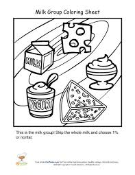 Small Picture Dairy food group coloring sheet