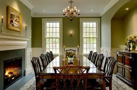 traditional dining room wall decor ideas. Pastel Green Wall Color For Traditional Dining Room Decorating Ideas With Wooden Table And Classic Fireplace Decor E