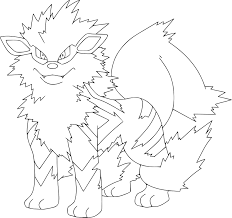 Coloriage Arcanin Pokemon Imprimer L