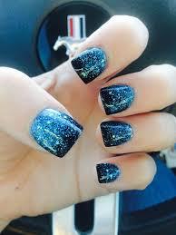 Nails Mylar Black Blue Glitter Make Up A Vlasy Nehty úprava
