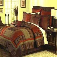 queen king cal brown rust olive green bedding comforter set bed in a bag