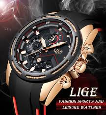 <b>LIGE</b> Unique <b>Sports Watch Men's</b> Quartz Date Clock Waterproof ...