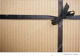 templates corrugated gift box with black satin ribbon