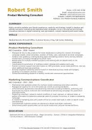 Product Consultant Resumes Marketing Consultant Resume Samples Qwikresume