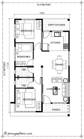 House Designs Floor Plans 3 Bedrooms Home Design 10x16m With 3 Bedrooms Single Storey House