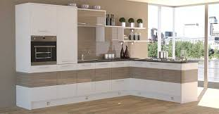 high gloss cream contemporary kitchen design