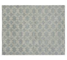 pottery barn scroll tile rug porcelain blue pottery barn rugs