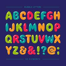 Bubble Letters Font Cartoon Bubble Letters Vector Material Free Download
