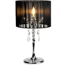 lexi lighting paris chrome table lamp with black string shade