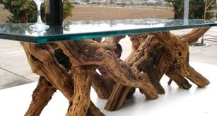 tree stump coffee table with glass top tree trunk table glass top recycled furniture crafts intended
