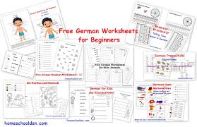 For Homeschool Free German Beginners Den Worksheets yEKq1aYzw