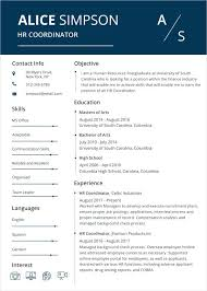 Modern Resume Template Word Free Download Hr Coordinator Resume Word ...