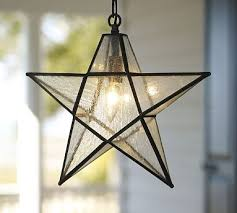 glass star pendant for the outdoors