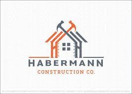 Handyman Construction Building Logo Design Featuring A Home